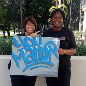 FFCR Exec. Dir. Candice Maze honors someone who matters, FFCR staffer Ranetha Jones.
