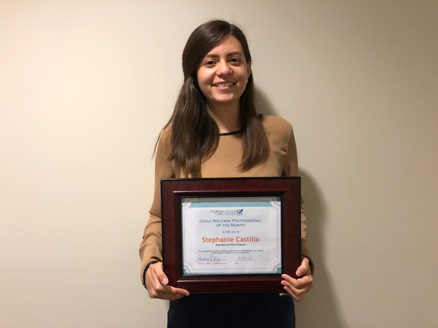 GAL Program's Stephanie Castillo Named Child Welfare Professional of the Month